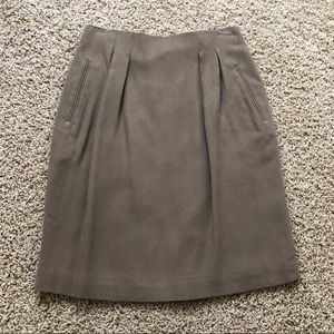 Saks Fifth Avenue tan wool pencil skirt.